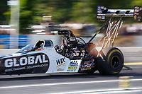 Jun 9, 2017; Englishtown , NJ, USA; NHRA top fuel driver Shawn Langdon during qualifying for the Summernationals at Old Bridge Township Raceway Park. Mandatory Credit: Mark J. Rebilas-USA TODAY Sports