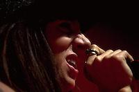 CIUDAD DE MÉXICO, D.F.- Agosto 29, 2013.-  La  cantante española, María Rodríguez Garrido, conocida como Mala Rodríguez o La Mala, durante su concierto donde promociona su más reciente producción, Bruja, en el Plaza Condesa de la Ciudad de México, el 27 de agosto de 2013.  FOTO: ALEJANDRO MELÉNDEZ<br /> <br /> MEXICO CITY, DF-August 29, 2013. - The Spanish singer María Rodríguez Garrido, known as La Mala Mala Rodríguez or during their concert which promotes its latest production, Witch, at the Plaza Condesa in Mexico City, on August 27, 2013. PHOTO: ALEJANDRO MELENDEZ
