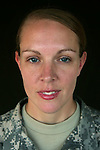 Specialist Shannon Ruopp, 27, Monmouth, ME, Medic, Charlie Medical Company 501st Field Support Battalion 1st Brigade 1st Armored Division taken at the company's medical facility at Camp Ramadi, Iraq on Sunday Oct. 01, 2006.<br />