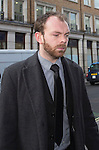 """Pic shows: Simon Pegg<br /> <br /> <br /> Funeral of Roger Lloyd-Pack - """"Trigger"""" from Only Fools and Horses.<br /> <br /> Mourners arriving at the service at Actors Church in Covent Garden -<br /> <br /> <br /> <br /> <br /> Pic by Gavin Rodgers/Pixel 8000 Ltd"""