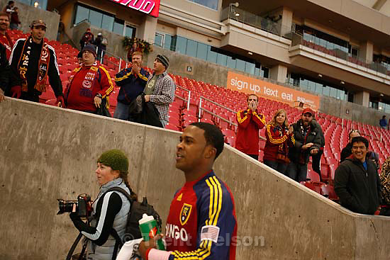 Real Salt Lake forward Robbie Findley (10). Real Salt Lake vs. Columbus Crew, MLS Soccer playoffs Saturday, October 31 2009 at Rio Tinto Stadium in Sandy. kristin murphy