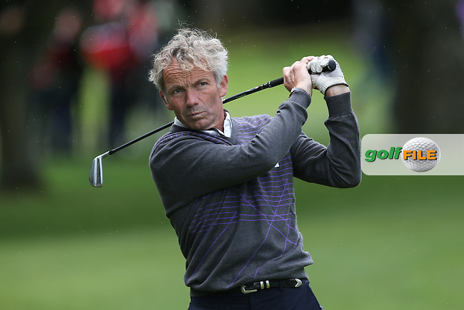 Legendary jockey Johnny Francome  during the Pro-Am ahead of the 2015 BMW PGA Championship over the West Course at Wentworth, Virginia Water, London. Picture David lloyd, www.golffile.ie: 20/05/2015
