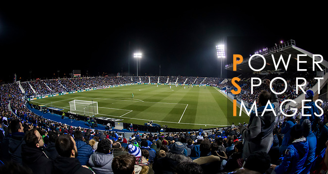 Estadio Municipal Butarque is packed with soccer fans during the the Copa del Rey 2017-18 match between CD Leganes and Real Madrid on 18 January 2018 in Leganes, Spain. Photo by Diego Gonzalez / Power Sport Images