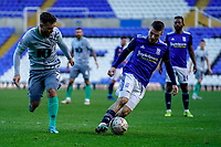 4th January 2020; St Andrews, Birmingham, Midlands, England; English FA Cup Football, Birmingham City versus Blackburn Rovers; Dan Crowley of Birmingham City brings the ball out of defence - Strictly Editorial Use Only. No use with unauthorized audio, video, data, fixture lists, club/league logos or 'live' services. Online in-match use limited to 120 images, no video emulation. No use in betting, games or single club/league/player publications