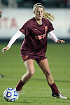 08 November 2013: Virginia Tech's Ashley Meier. The University of Virginia Cavaliers played the Virginia Tech Hokies at WakeMed Stadium in Cary, North Carolina in a 2013 NCAA Division I Women's Soccer match and the semifinals of the Atlantic Coast Conference tournament. Virginia Tech won the game 4-2.