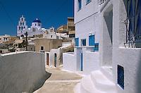 Pyrgos auf der Insel Santorin (Santorini), Griechenland, Europa