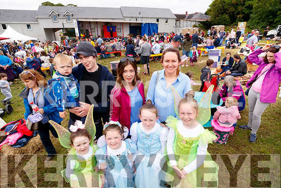 Pictured at the Kilflynn Enchanted Fairy Festival on Sunday afternoon last, were front l-r: Leah O'Sullivan, Millie O'Mahony with Chloe and Ella O'Sullivan. Back l-r: Luke O'Mahony, Brendan O'Mahony, Natasha O'Connell and Carol O'Mahony.