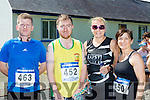 Jerry Flynn Milltown, Ross Gallagher Gneeveguilla, Paula Wright and Catherine McCarthy Castleisland  at the Kilgobnet 5k on Sunday morning