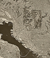 historical aerial photograph San Diego, California, 1994