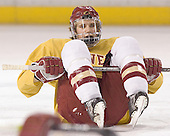 Matt Carle - Reigning national champions (2004 and 2005) University of Denver Pioneers practice on Friday morning, December 30, 2005 before hosting the Denver Cup at Magness Arena in Denver, CO.