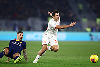 12th January 2020; Stadio Olympico, Rome, Italy; Italian Serie A Football, Roma versus Juventus; Paulo Dyabala of Juventus beats his defender - Editorial Use