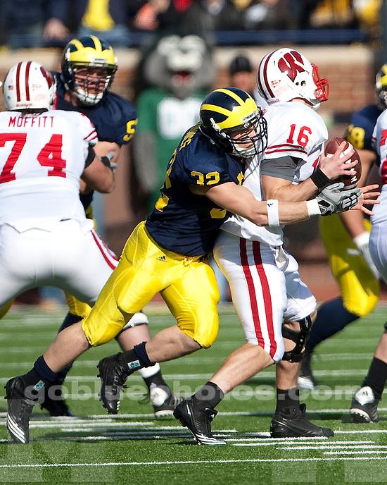 University of Michigan football 48-28 loss to Wisconsin at Michigan Stadium in Ann Arbor, MI, on November 20, 2010