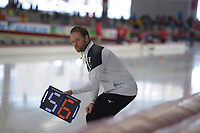 SPEEDSKATING: INZELL: Max Aicher Arena, 09-02-2019, ISU World Single Distances Speed Skating Championships, Johan de Wit (trainer/coach Japan), ©photo Martin de Jong