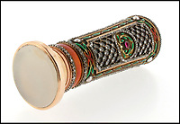BNPS.co.uk (01202)558833Pic: Woolley&Wallis/BNPS<br /> <br /> Russian Imperial jewel.<br /> <br /> It never rains but it pours...<br /> <br /> Fabulous Faberge parasol handle sell for a whopping £75,000 - Over 10 times its estimate!