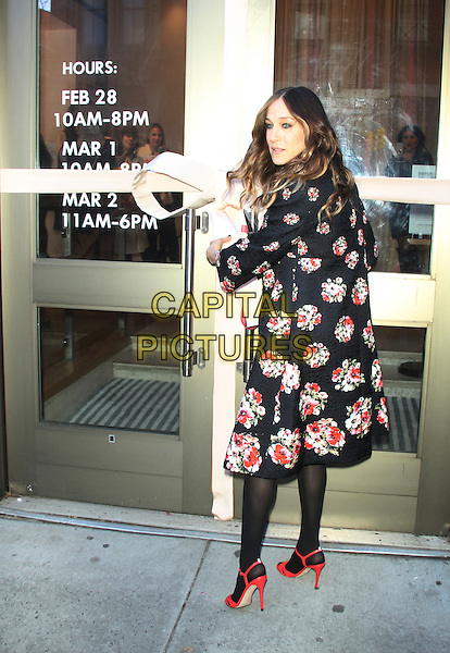 NEW YORK, FEBRUARY 28: Sarah Jessica Parker ribbion-cutting for SJP Collection X Nordstrom Pop UP at 372 West Broadway on February 28, 2014 in New York City, NY., USA.<br /> CAP/MPI/RW<br /> &copy;RW/ MediaPunch/Capital Pictures