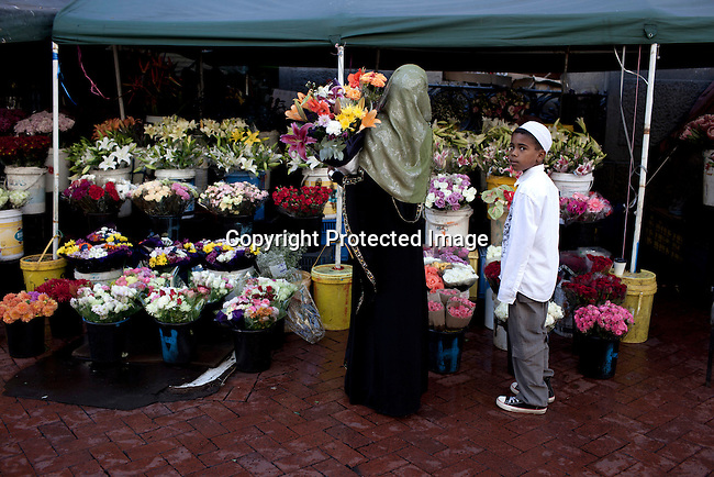 CAPE TOWN, SOUTH AFRICA - MARCH 21: The flower market on Adderley street on March 21, 2012 in Cape Town, South Africa (Photo by Per-Anders Pettersson)