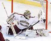 Parker Milner (BC - 35) - The Boston College Eagles defeated the visiting University of Massachusetts-Amherst Minutemen 2-1 in the opening game of their 2012 Hockey East quarterfinal matchup on Friday, March 9, 2012, at Kelley Rink at Conte Forum in Chestnut Hill, Massachusetts.