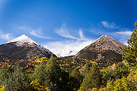Together, these two peaks near Salida, Colorado, are the Twin Sisters. But individually, Malessia is on the left and Elvira on the right.