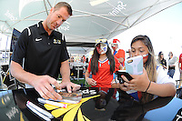 Philadelphia, PA - Tuesday June 14, 2016: Sponsors, Brian McBride prior to a Copa America Centenario Group D match between Chile (CHI) and Panama (PAN) at Lincoln Financial Field.