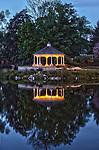 Gazebo reflection in a mill pond