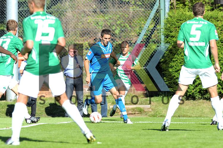 Leogang &Ouml;sterreich 31.07.2010, 1.Fu&szlig;ball Bundesliga Testspiel TSG 1899 Hoffenheim - Greuther F&uuml;rth, Hoffenheims Vedad Ibisevic ist umzingelt von F&uuml;rther Gegenspieler<br /> <br /> Foto &copy; Rhein-Neckar-Picture *** Foto ist honorarpflichtig! *** Auf Anfrage in h&ouml;herer Qualit&auml;t/Aufl&ouml;sung. Belegexemplar erbeten. Ver&ouml;ffentlichung ausschliesslich f&uuml;r journalistisch-publizistische Zwecke.
