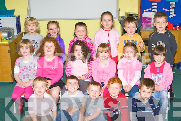 Junior Infants having fun at Scoil Re?alt na Mara, Cromane on Wenesday (school has a no name policy)
