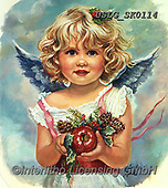 CHILDREN, KINDER, NIÑOS, paintings+++++,USLGSK0114,#K#, EVERYDAY ,Sandra Kock, victorian ,angels