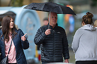 Shoppers battle the weather in Swansea City Centre, Swansea, Wales, UK. Friday 07 June 2019