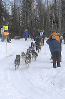 Rick Swenson Anchorage Start Iditarod 2008.