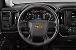 Car pictures of steering wheel view of a 2018 Chevrolet Silverado-1500 1LS-Crew-Cab-Short-Box 4 Door Pickup Steering Wheel