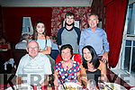 Enjoying a family reunion at Cassidy's on Saturday were front l-r John O'Shea, Ena O'Shea, Jacinta OHara Back l-r Sally O'Hara, Jack O'Hara and John O'Hara