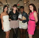 Lisa Yom, Designer Allison Parris, Estelle and Justine McCarthy attend Save the Eggs benefit Cocktails 2010 hosted by Tia Walker, Peggie Walker, BoConcept Owner Shaokao Cheng & Emma Snowdon-Jones at BoConcept New York, 5/17/10