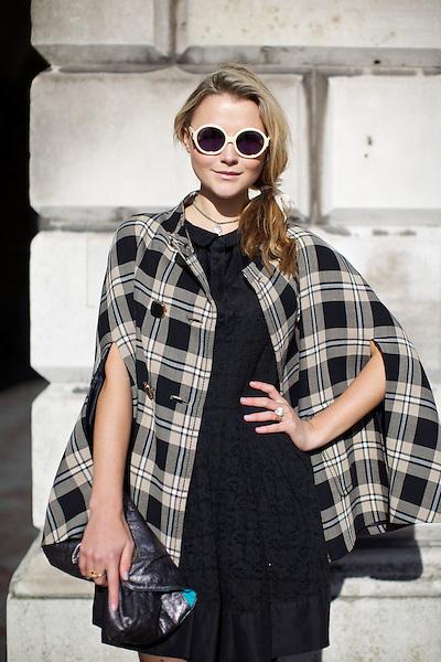 Amber Atherton at London Fashion Week February 2012