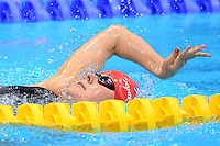 PICTURE BY ALEX BROADWAY /SWPIX.COM - 2012 London Paralympic Games - Day Five - Swimming, Aquatic Centre, Olympic Park, London, England - 03/09/12 - Elizabeth Johnson of Great Britain competes in the Women's 200m Individual Medley SM6 Heats.