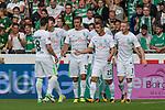 05.08.2017, Weserstadion, Bremen, GER, FSP, SV Werder Bremen (GER) vs FC Valencia (ESP)<br /> <br /> im Bild<br /> Torjubel zum 1:1 durch Max Kruse (Werder Bremen #10) mit Fin Bartels (Werder Bremen #22), Florian Kainz (Werder Bremen #7), Jerome Gondorf (Werder Bremen #8), <br /> <br /> Foto © nordphoto / Ewert