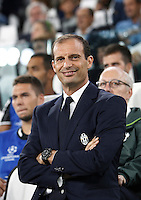 Calcio, Champions League: Juventus vs Siviglia: Torino, Juventus Stadium, 14 settembre 2016. <br /> Juventus coach Massimiliano Allegri waits for the start of the Champions League Group H football match between Juventus and Sevilla at Turin's Juventus Stadium, 16 September 2016.<br /> UPDATE IMAGES PRESS/Isabella Bonotto