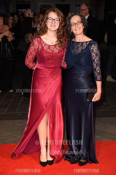 Laura Pankhurst &amp; Helen Pankhurst at the BFI London Film Festival premiere of &quot;Suffragette&quot; at the Odeon Leicester Square, London.<br /> October 7, 2015  London, UK<br /> Picture: Steve Vas / Featureflash