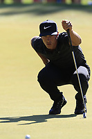 Thorbjorn Olesen (DEN) on the 3rd green during Saturday's Round 3 of the 2018 Turkish Airlines Open hosted by Regnum Carya Golf &amp; Spa Resort, Antalya, Turkey. 3rd November 2018.<br /> Picture: Eoin Clarke | Golffile<br /> <br /> <br /> All photos usage must carry mandatory copyright credit (&copy; Golffile | Eoin Clarke)