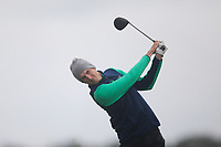 Tiernan McLarnon from Ireland on the 8th tee during Round 3 Foursomes of the Men's Home Internationals 2018 at Conwy Golf Club, Conwy, Wales on Friday 14th September 2018.<br /> Picture: Thos Caffrey / Golffile<br /> <br /> All photo usage must carry mandatory copyright credit (&copy; Golffile | Thos Caffrey)