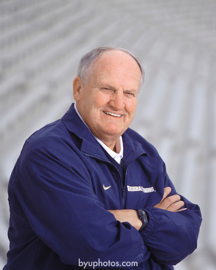Lavell posed<br /> <br /> Coach LaVell Edwards<br /> <br /> Photo by Mark Philbrick/BYU<br /> <br /> Copyright BYU Photo 2009<br /> All Rights Reserved<br /> photo@byu.edu  <br /> (801)422-7322