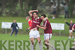 Dromid's Declan O'Sullivan and Dominic O'Sullivan celebrate Niall O'Shea goal in injury time of extra time