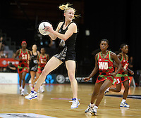 31.10.2013 Silver Fern Shannon Francois in action during the Silver Ferns V Malawi during the New World Netball Series played at the Claudelands Arena in Hamilton. Mandatory Photo Credit ©Michael Bradley.