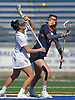 Alyssa Parrella #7 of Hofstra University, left, and Morgan Steinhacker #12 of Bucknell battle for control of a faceoff during an NCAA women's lacrosse game at Shuart Stadium in Hempstead, NY on Saturday, Feb. 17, 2018. Hofstra cruised to a 13-1 win. Parrella tallied four goals and an assist.