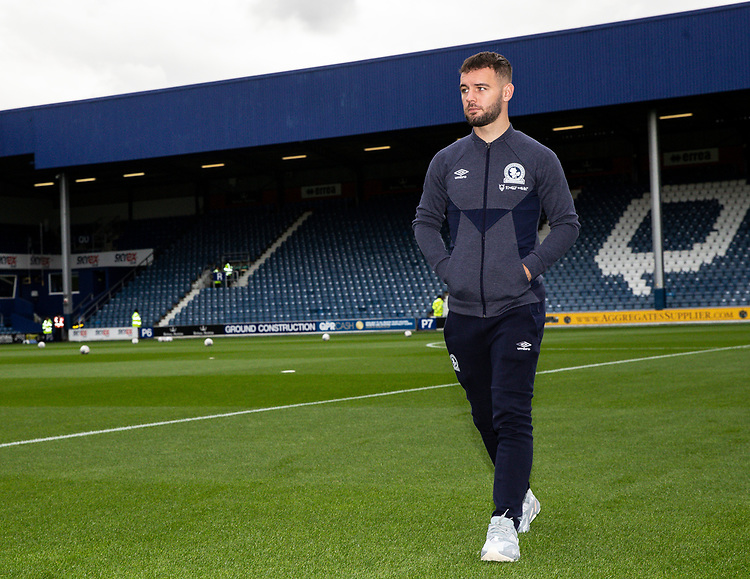 Blackburn Rovers' Adam Armstrong pictured before the match <br /> <br /> Photographer Andrew Kearns/CameraSport<br /> <br /> The EFL Sky Bet Championship - Queens Park Rangers v Blackburn Rovers - Saturday 5th October 2019 - Loftus Road - London<br /> <br /> World Copyright © 2019 CameraSport. All rights reserved. 43 Linden Ave. Countesthorpe. Leicester. England. LE8 5PG - Tel: +44 (0) 116 277 4147 - admin@camerasport.com - www.camerasport.com