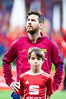 FC Barcelona Lionel Messi during King's Cup Finals match between Sevilla FC and FC Barcelona at Wanda Metropolitano in Madrid, Spain. April 21, 2018. (ALTERPHOTOS/Borja B.Hojas)