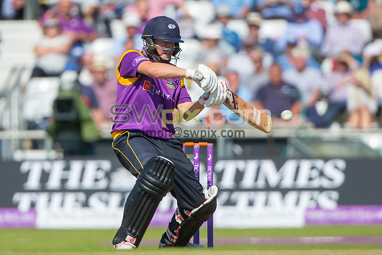 Picture by Alex Whitehead/SWpix.com - 06/09/2015 - Cricket - Royal London One-Day Cup, Semi-Final - Yorkshire CCC v Gloucestershire CCC - Headingley Cricket Ground, Leeds, England - Yorkshire's Gary Ballance hits out.
