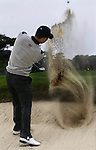 Sand Art-Anthony Kim blasting out of fairway bunker at the 2009 President's Cup held Harding Park Golf Course in San Francisco, CA.  I was shooting for the San Francisco Examiner's website.
