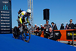 Australian National Champion Rohan Dennis (AUS) BMC Racing Team in action during Stage 7 of the 53rd edition of the Tirreno-Adriatico 2018 a 10km individual time trial around San Benedetto del Tronto, Italy. 13th March 2018.<br /> Picture: LaPresse/Spada   Cyclefile<br /> <br /> <br /> All photos usage must carry mandatory copyright credit (&copy; Cyclefile   LaPresse/Spada)