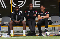 Crystal Palace Manager, Frank De Boer looks on alongside his Assistant, Orlando Trustfull during Maidstone United vs Crystal Palace, Friendly Match Football at the Gallagher Stadium on 15th July 2017