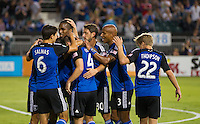 Santa Clara, California - August 30, 2014: San Jose Earthquakes face off against Real Salt Lake at Buck Shaw Stadium on Saturday.
